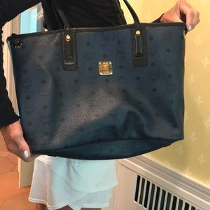 Authentic MCM large reversible tote